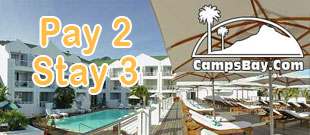 Camps Bay Accommodation Specials @ The Bay Hotel